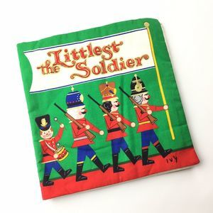 The Littlest Soldier Book Fabric Christmas Cloth